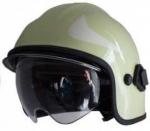 Casques d'intervention Calisia type AK/10 avec lunettes- vert claire, bouclier doré