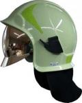 Casques d'intervention Calisia typ AK/10 avec lunettes- vert claire, bouclier doré - photoluminescent